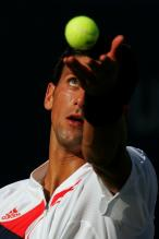 Novak Djokovic Serve Pictures