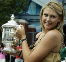 Maria Sharapova holding trophy in US Open.jpg
