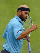 James Blake celebrates a point at the Queens Club.jpg