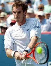 Andy Murray hits a two handed backhand with his Head racket.JPG
