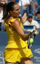 Jelena Jankovic hits a forehand with her Prince O3 racket.JPG
