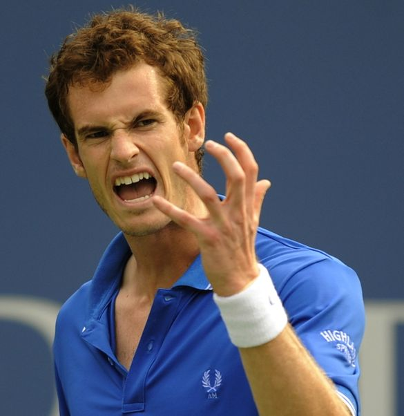 Image result for andy murray scowl