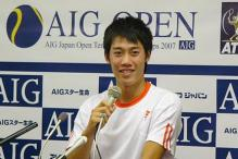 Kei Nishikori speaks during a press conference.jpg