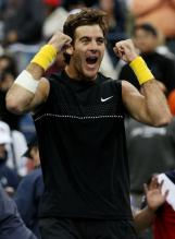 Del Potro celebrates his quarterfinal win at the 2009 US Open.JPG