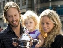 Kim Clijsters and her daughter Jada and husband Brian Lynch in NY.JPG