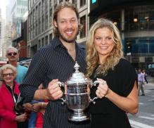 Kim Clijsters and her husband Brian Lynch in New York.JPG