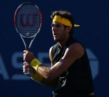 Juan Martin Del Potro two handed backhand followthrough.JPG
