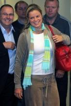Kim Clijsters arrivesd at the Brussels Airport after winning the US Open 2009.JPG