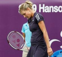 Maria Kirilenko is disappointed after a point.JPG