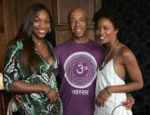 Serena Williams with Russell Simmons and Eva Pigford at CELESTIAL.jpg