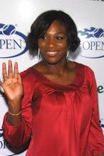Serena Williams with short hair in red dress.jpg