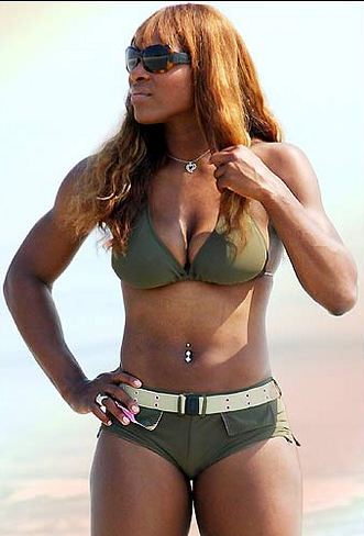 Serena Williams in olive green bikini.JPG