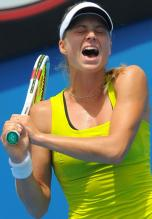 Maria Kirilenko reacts in dismay at the 2010 Australian Open.JPG