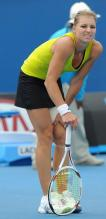 Maria Kirilenko holds her leg at the Australian Open 2010.JPG