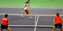 Ana Ivanovic hits a backhand volley against Russia.JPG