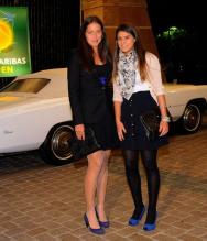 Ana Ivanovic and a friend at the Indian Wells players party.JPG