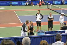 Vera Zvonareva & Austin Aces Coach Rick Leach Converse as Eva Hrdinova Looks on at Cedar Park Center.jpg