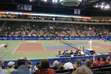 Women's World Team Tennis Singles Match at Cedar Park Center Vera Zvonareva vs Daniela Hantuchova Cedar Park Center 2014.jpg