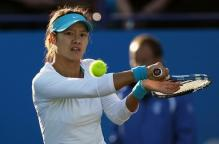 Li Na backhand slice shot preparation.JPG