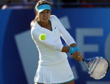 Li Na 2 handed backhand preparation.JPG