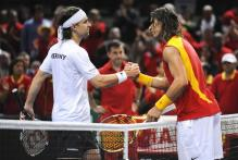 Nadal shakes hands with Nicolas Kiefer after their Davis Cup match.jpg