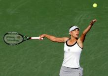 Vera Zvonareva ball toss and serve at Montreal 2010.JPG