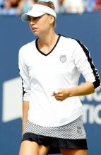 Vera Zvonareva in a white K-Swiss sweatshirt.JPG