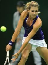 Maria Kirilenko backhand slice at the Kremlin Cup 2010.JPG