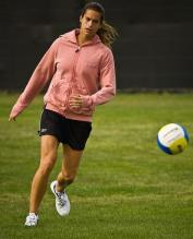 Amelie Mauresmo playing soccer football.jpg