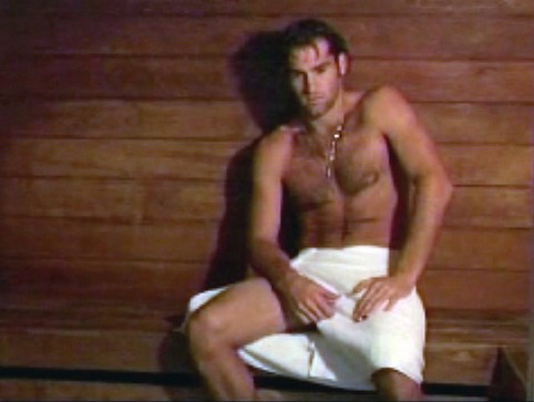Robby Ginepri shirtless with only towel on.jpg