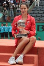 Ana Ivanovic poses with her French Open trophy.jpg