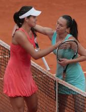 Ana Ivanovic and Jelena Jankovic after their match.jpg