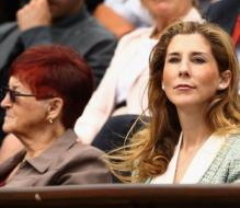 Monica Seles watches the 2012 French Open finals.JPG