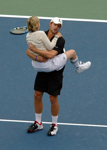 Andy Roddick gets jumped on by Ellen DeGeneres.jpg