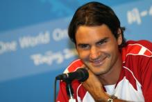 Roger Federer smiles during a press conference at the Beijing Olympics.jpg