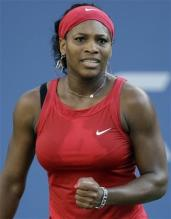Serena Williams reacts after hitting a winner at the US Open.jpg