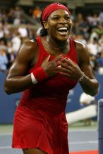 Serena Williams is ecstatic after winning the finals of the 2008 US Open.jpg