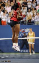 Serena Williams jumps up and down celebrating her 2008 US Open championship.jpg