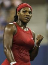 Serena Williams celebrates a point during the 2008 US Open finals match.jpg