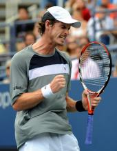 Andy Murray celebrates a point at the 2008 US Open semifinals.jpg