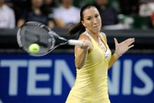 Jelena Jankovic hits a forehand at the Pacific Open.jpg