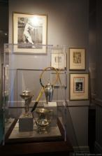 1930s tennis racquet & trophies at International Tennis Hall of Fame.jpg