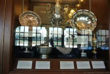 Wimbledon Doubles Championship 1953 trophy & other trophies at International Tennis Hall of Fame & Museum.jpg