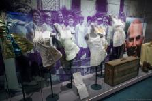 Various outfits worn by women tennis players on exhibit at International Tennis Hall of Fame.jpg