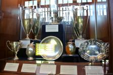 Various old US National Championships trophies from the past on display at International Tennis Hall of Fame & Museum.jpg