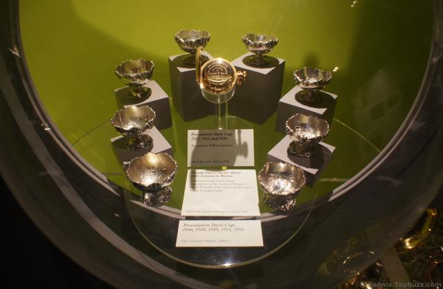 Various Davis Cup trophies at International Tennis Hall of Fame.jpg