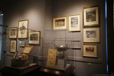 Tennis trophies and photos from late 1800's at International Tennis Hall of Fame & Museum.jpg