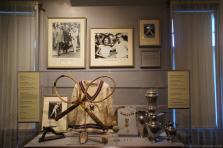 Tennis racquets & Trophies from 1920s at International Tennis Hall of Fame.jpg