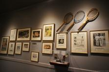 Tennis in the 1920's exhibit wall at International Tennis Hall of Fame & Museum.jpg