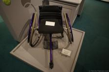 Randy Snow's wheelchair for playing tennis on display at International Tennis Hall of Fame.jpg